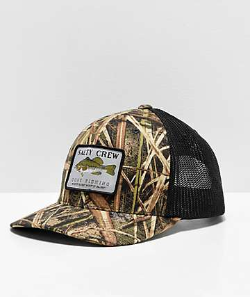 Salty Crew Dixon Retro Grass Camo & Black Trucker Hat