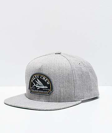 Salty Crew Flyer Oatmeal Grey Snapback Hat