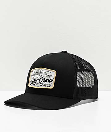 Salty Crew Frenzy Retro Black Trucker Hat
