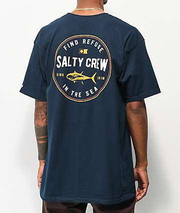 Salty Crew Harbor Navy T-Shirt