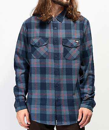 Salty Crew Inshore Navy Flannel Shirt