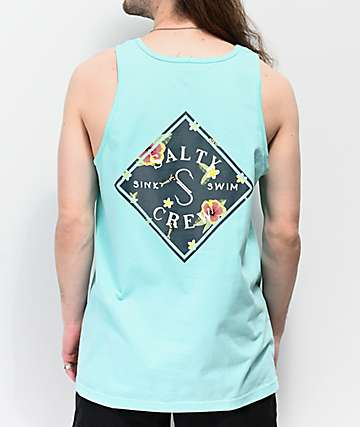 Salty Crew Island Time Teal Tank Top