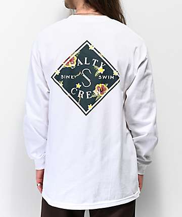 Salty Crew Island Time White Long Sleeve T-Shirt