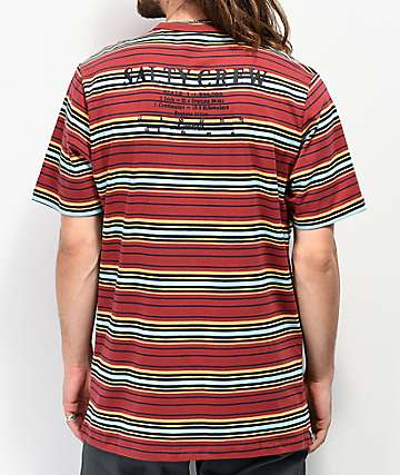 Salty Crew Offshore Stripe Rust T-Shirt