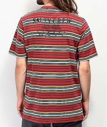 Salty Crew Offshore Stripe Rust T-Shirt