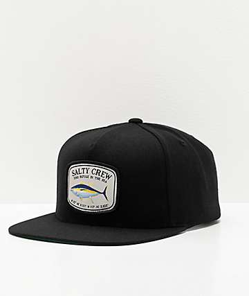 Salty Crew Pacific Black Snapback Hat