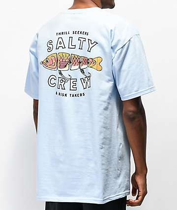 Salty Crew Paddle Tail Light Blue T-Shirt