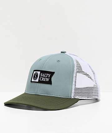 Salty Crew Pinnacle Retro Mist & Olive Trucker Hat