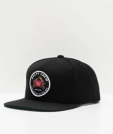 Salty Crew Soft Shell Black Snapback Hat