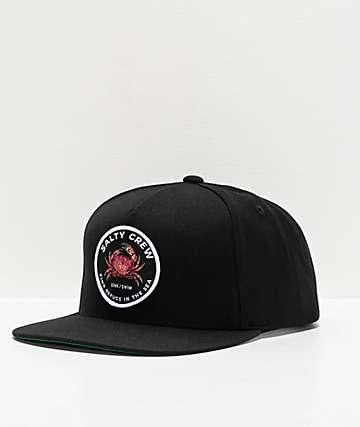 Salty Crew Soft Shell Black Snapback Hat