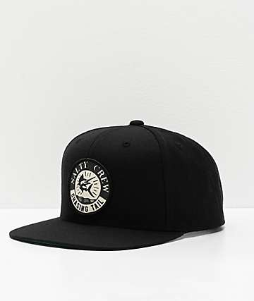 Salty Crew Streamer Black Snapback Hat