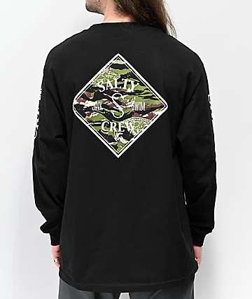 Salty Crew Tippet Black Long Sleeve T-Shirt