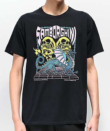 Samborghini Dragon 2 Black T-Shirt