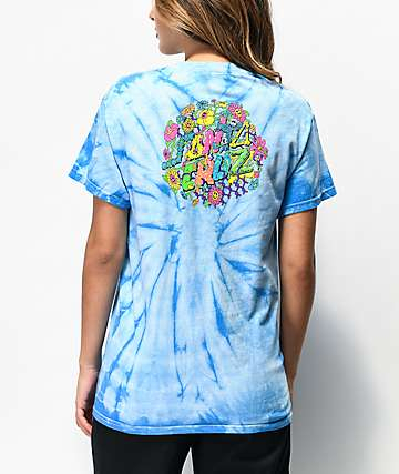 Santa Cruz Baked Dot Blue Tie Dye T-Shirt