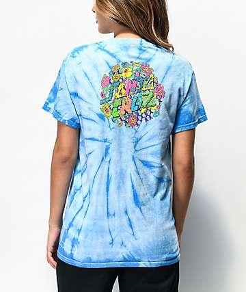 Santa Cruz Baked Dot Blue Tie Dye T-Shirt