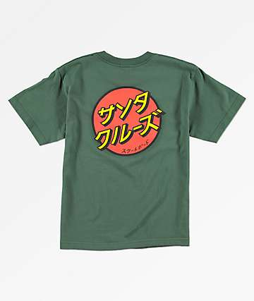 Santa Cruz Boys Japan Dot Green T-Shirt