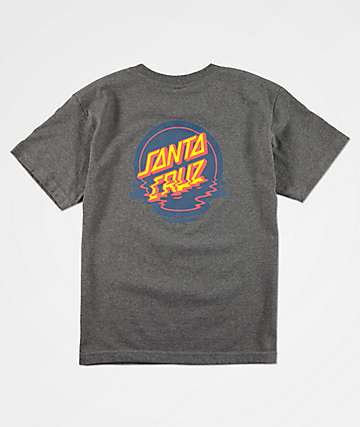 Santa Cruz Boys Reflection Dot Grey T-Shirt