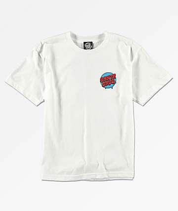 Santa Cruz Boys Screaming Hand White T-Shirt
