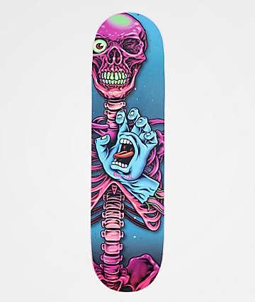 """Santa Cruz Braun Crew Hand Everslick 8.25"""" Skateboard Deck"""