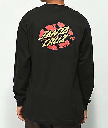 Santa Cruz Broken Dot Black Long Sleeve T-Shirt