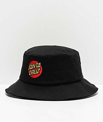 Santa Cruz Classic Dot Black Bucket Hat