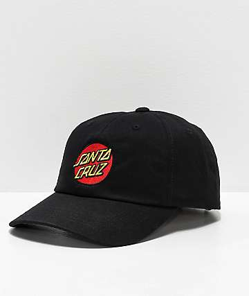 Santa Cruz Classic Dot Black Strapback Hat
