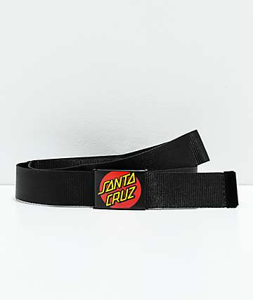 Santa Cruz Classic Dot Black Web Belt