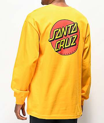 Santa Cruz Classic Dot Gold Long Sleeve T-Shirt