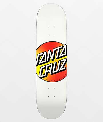 "Santa Cruz Dayfade Dot White VX 8.25"" Skateboard Deck"