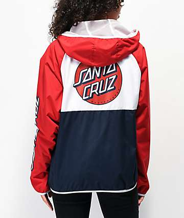 Santa Cruz Dot Red, White & Blue Windbreaker Jacket