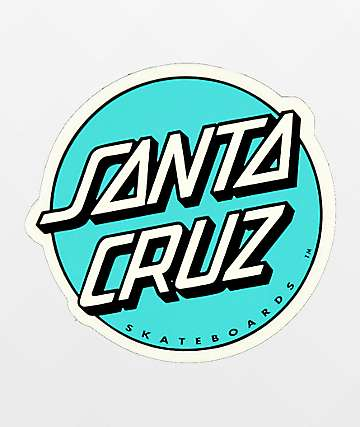 Santa Cruz Dot Turquiose Sticker