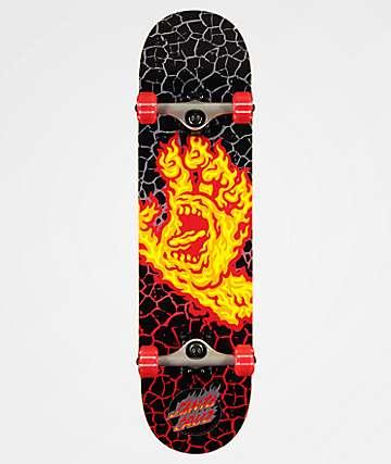 "Santa Cruz Flame Hand 8.0"" Skateboard Complete"