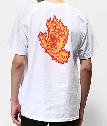 Santa Cruz Flame Hand White T-Shirt