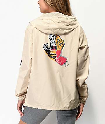 Santa Cruz Hand Blocked Khaki Windbreaker Jacket
