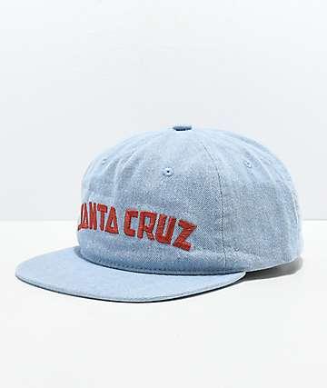 Santa Cruz Laguna Light Blue Washed Strapback Hat