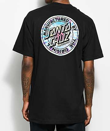 Santa Cruz Manufactured Dot Tie Dye Black T-Shirt