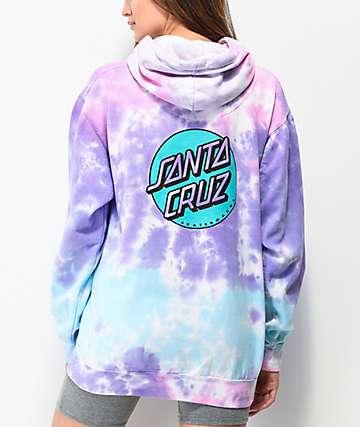 Santa Cruz Missing Dot Cotton Candy sudadera con capucha tie dye