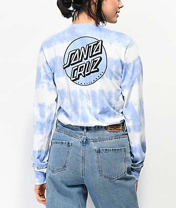 Santa Cruz Missing Dot Periwinkle Tie Dye Long Sleeve T-Shirt