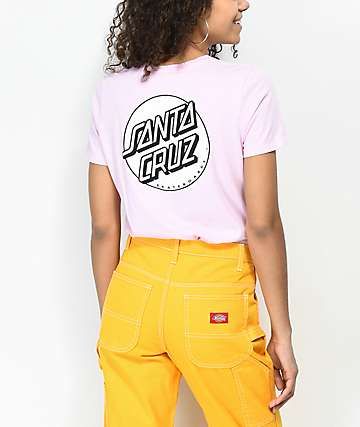 Santa Cruz Missing Dot Pink T-Shirt