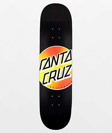 "Santa Cruz Nightfade Dot Black VX 8.0"" Skateboard Deck"