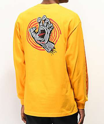 Santa Cruz Off Hand Gold Long Sleeve T-Shirt
