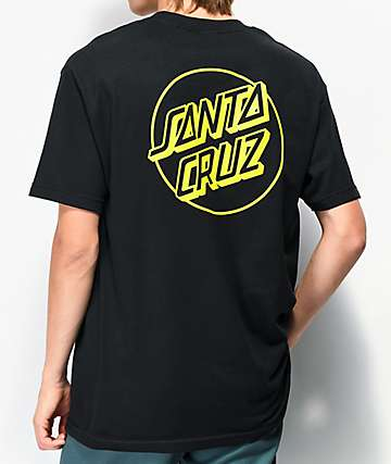 Santa Cruz Opus Dot Black & Safety Green T-Shirt
