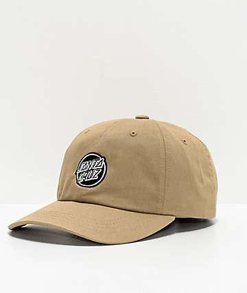 Santa Cruz Opus Dot Khaki Strapback Hat