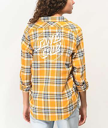 Santa Cruz Opus Yellow Flannel Shirt
