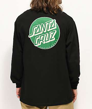 Santa Cruz Other Dot Black & Forest Green Long Sleeve T-Shirt