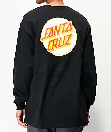 Santa Cruz Other Dot Black & White Long Sleeve T-Shirt