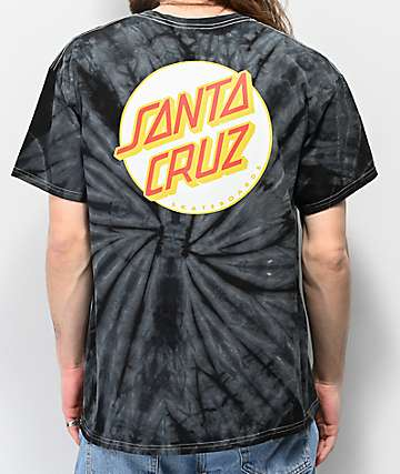 Santa Cruz Other Dot Black Tie Dye T-Shirt