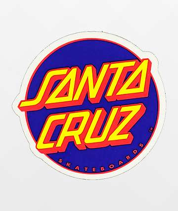 Santa Cruz Other Dot Blue & Yellow Sticker