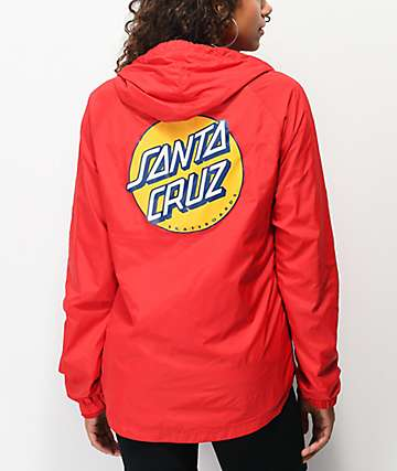 Santa Cruz Other Dot Red Windbreaker Jacket