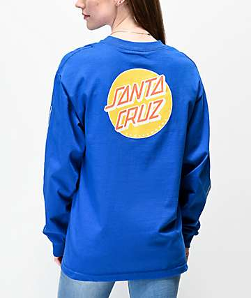 Santa Cruz Other Dot Striped Royal Blue Long Sleeve T-Shirt